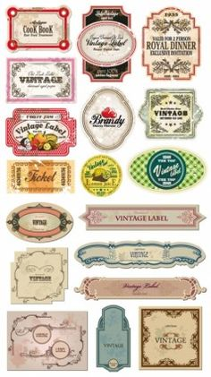 classic europeanstyle bottle labels and stickers vector