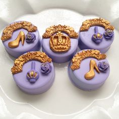 Pretty lavender and gold chocolate covered oreos