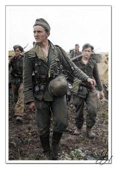 """Pancéřový granátníci divize """"Grossdeutschland"""".Východní fronta 1944. Panzergrenadiers of """"Grossdeutschland Division"""". Eastern Front 1944."""