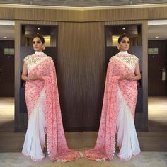 Sonam Kapoor Promoting Neerja With All Fashion Factor Diva Fashion, All Fashion, Indian Fashion, Saree Draping Styles, Saree Styles, Indian Dresses, Indian Outfits, Indian Clothes, Golden Saree