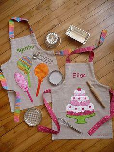 Entre Barrancos (MANUALIDADES): Delantales para niñas | Dibujos | Pinterest | Kids apron, So cute and Kid