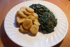 Cameroonian Fried Spinach. Fried Spinach, Fries, Meat, Chicken, Recipes, Food, Recipies, Essen, Meals