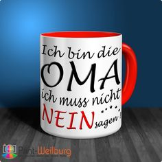 Mug - I'm the OPA I do not have to say NO - Print-Weilburg.de Source by letstalkaboutit Cricut Baby Shower, Baby Wall Stickers, Kids Bathroom Accessories, Diy Crafts For Gifts, Teacher Humor, Funny Facts, Kids House, About Me Blog, Mugs