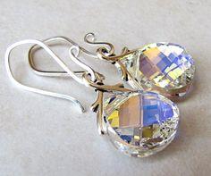 Crystal Bridal Earrings Swarvoski Crystal by BellinaCreations, $25.00
