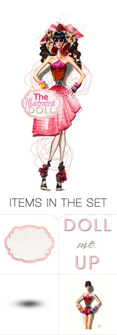 """""""The Illustrated Doll"""" by ultracake ❤ liked on Polyvore featuring art, contest, dolls, illustration, promo and ultracake"""