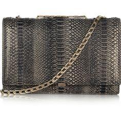 Victoria Beckham Python shoulder bag ($4,025) ❤ liked on Polyvore