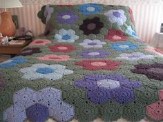 Ravelry: JudyLee59knits' Afghan  Hexagon <3