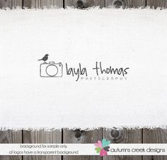 Photography Logo Premade Logo Design Camera Bird by autumnscreek, $35.00