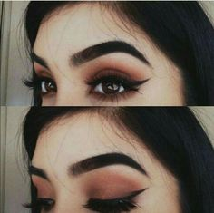 ideas for hair black eyebrows eyeliner Pretty Makeup, Love Makeup, Makeup Inspo, Makeup Inspiration, Makeup Geek, Makeup Kit, Big Eye Makeup, Sweet Makeup, Witch Makeup