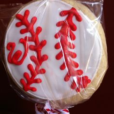 Washington Nationals Baseball cookie pops