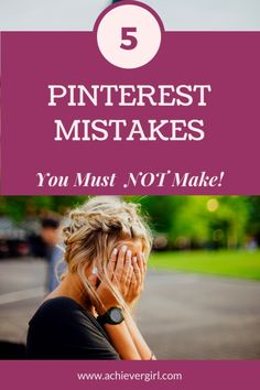 Are you making one (or all) of these 5 pinterest mistakes? #3 everyone makes or has made. If you are new to pinterest or not sure why your pinning efforts are not working, then find out what not to do so you can succeed in using pinterest marketing to grow your online business and make money. #achievergirl #pinterest #pinterestmistakes #pinteresttips #pinterestmarketing #makemoney #makemoneyonline #onlinebusiness Social Media Tips, Social Media Marketing, Marketing Strategies, Business Marketing, Digital Marketing, Business Tips, Online Business, Make Money Online, How To Make Money