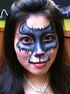 Cat Woman  BodyFX    www.bodyfx.co.nz Face Paint Makeup, Cat Makeup, Maquillage Halloween, Halloween Makeup, Makeup Gallery, Cat Body, Super Cute Cats, Theatrical Makeup, Theatre Makeup