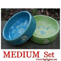 Personalized Dog Bowls Custom Made Dog Bowls Ceramic by Bigdogpots