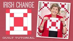 """Make an """"Irish Change"""" Quilt with Jenny Doan of Missouri Star (Video Tutorial) — Quilting Tutorials Missouri Star Quilt Pattern, Missouri Star Quilt Tutorials, Star Quilt Patterns, Quilting Tutorials, Msqc Tutorials, Quilting Ideas, Quilting Projects, Sewing Projects, Hans Moser"""