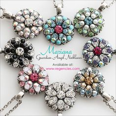 The pink one!! Mariana Guardian Angel Necklaces Available at www.regencies.com