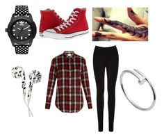 Untitled #72 by mad-hatter-gone-insane on Polyvore featuring Yves Saint Laurent, Oasis, Converse, adidas Originals and Cartier