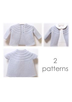 Baby Set / Knitting Pattern Instructions in English / PDF Instant Download / 3 Sizes : 3 / 6 and 9 months