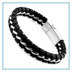 THIS IS THE MOST AWESOME BRACELET IVE EVER SEEN http://www.aliexpress.com/item/2013-Leisure-Bangle-for-Men-316L-Stainless-Steel-Black-Leather-Knitted-Fashion-Mens-Bracelets-Wholesale-Free/1398695771.html