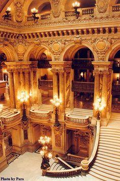 Opera Garnier, Paris-- can you hear it? The Phaaaaaaaantom of the Opera is heeeeeeere inside your mind...