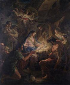 Adoración de los pastores / Adoration of the Sheperds // Primer tercio del siglo XVII - Segundo tercio del siglo XVII // Corrado Giaquinto // #Jesus #Christ #TheSavior #Christmas #Nativity #Navidad #Noël #Natale #VirginMary #SaintJoseph