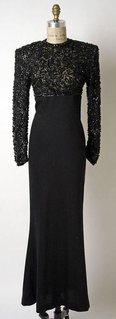 Evening dress, James Galanos, 1980s, American, cashmere