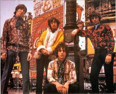 The original Pink Floyd in Piccadilly Circus London. 1967.