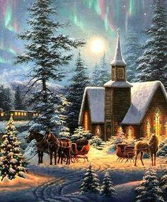 Nostalgische Weihnachtsbilder.Pinterest пинтерест