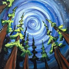 Ideas Painting Acrylic Easy Canvases Diy Canvas For 2019 Diy Painting, Painting & Drawing, Tree Painting Easy, Alien Painting, Acrylic Painting Trees, Circle Painting, Hippie Painting, Trippy Painting, Simple Acrylic Paintings