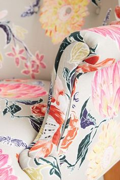 Lotus Blossom Wingback Chair - anthropologie.com #anthrofave