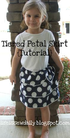 Tiered Petal Skirt {Tutorial Link}