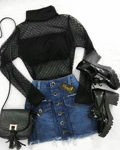 Cute Casual Outfits, Edgy Outfits, Mode Outfits, Grunge Outfits, Pretty Outfits, Teenage Outfits, Teen Fashion Outfits, Outfits For Teens, Girl Fashion