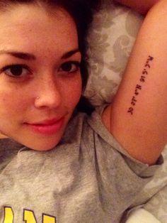 Latitude and Longitude coordinates of where I was born. A sister tattoo :) #tattoo #love
