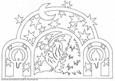 Decoration of windows on Christmas and New Year. And stencils. Kirigami, Paper Cutting, Wood Cutting, Stencils, Paper Lampshade, Paper Cut Design, Decorating With Christmas Lights, Christmas Decorations, Tea Art