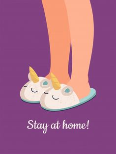Vector Human Feet In Cozy Unicorn Slippers. Cute Characters, Disney Characters, Illustration Story, Illustrations, Information Poster, Stay At Home, Banner Template, Quote Posters, How To Draw Hands