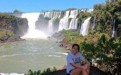 Sharon at Iguazu Falls