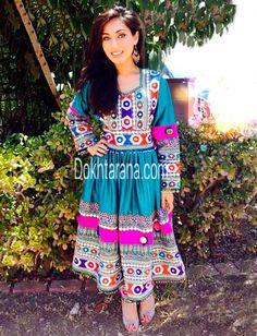 #Afghani #style # dress #girl