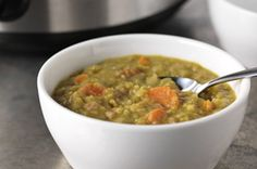 Crockpot Split Pea-Ham Soup-This is a healthy, low calorie low fat, low cholesterol, WW 5 Points+ and Diabetic recipe. Makes 8 servings. Kraft Foods, Kraft Recipes, Ww Recipes, Soup Recipes, Cooking Recipes, Quick Recipes, Diabetic Recipes, Casserole Recipes, Dinner Recipes
