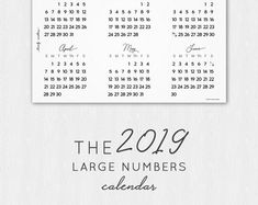 Chelsey Design by ChelseyDesignCanada Calendar Printable, 2019 Calendar, Printer, Etsy Seller, Printables, Paper, Easy, Design, Print Templates