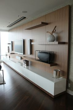 Brilliant How To Use Modern Tv Wall Units In Living Room Wall Decor on Home Design Elegant Wall Units Modern Tv Cabinet, Tv Cabinet Design, Modern Wall Units, Wall Units For Tv, Built In Tv Wall Unit, Wall Mounted Tv Unit, Built In Tv Cabinet, Home Living Room, Living Room Designs