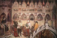 La famiglia Cavalli in adorazione davanti alla Madonna con il Bambino Santa Anastasia a Verona, Altichiero de Zevio,1369