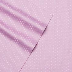 Alpine Dot 300 Thread Count Cotton Printed Sheet Set, Purple King