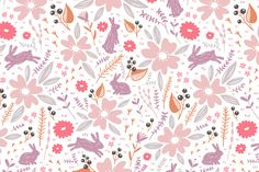 Floral Patterns Set 4 by Stolenpencil on @creativemarket
