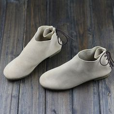 Handmade Flat Leather ShoesOxford Women Shoes Flat Shoes Retro Leather Shoes Casual Shoes Comfortable Walking Shoes by HerHis