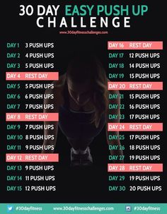 30 Day Easy Push Up Challenge Workout #Health #Fitness #Trusper #Tip