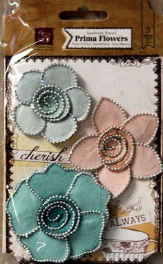 Prima Queen Mary Vintage Handmade Flowers