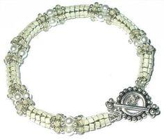 BPC13 Triangles & Pearls Bracelet