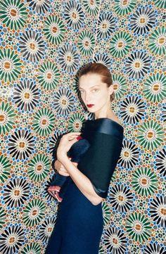 Daria Werbowy by Juergen Teller for Céline