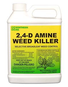 Southern Ag Amine Weed Killer Selective Broadleaf Weed Control, - 1 Quart: Here is a FULL QUART of Amine Weed Killer. It contains lbs per gallon acid equivalent liquid concentrate in a low volatile amine form. Best Pest Control, Bug Control, Weed Control, Weeds In Lawn, Garden Weeds, Lawn And Garden, Grass Weeds, Indoor Garden, Agriculture