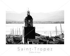 POSTER SAINT TROPEZ mit Kirche und Provence im von TAVIDshop