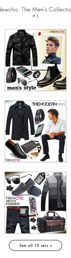 """""""Newchic: The Men's Collection #1"""" by whirlypath ❤ liked on Polyvore featuring Polaroid, men's fashion, menswear, OtterBox, modern and AFS JEEP"""